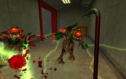 Brekkjern og romvesener. Half-Life kom ut til PC i 1998 og er basert på Quake-grafikkmotoren. Skjermknips: Haakon Berg Mathisen